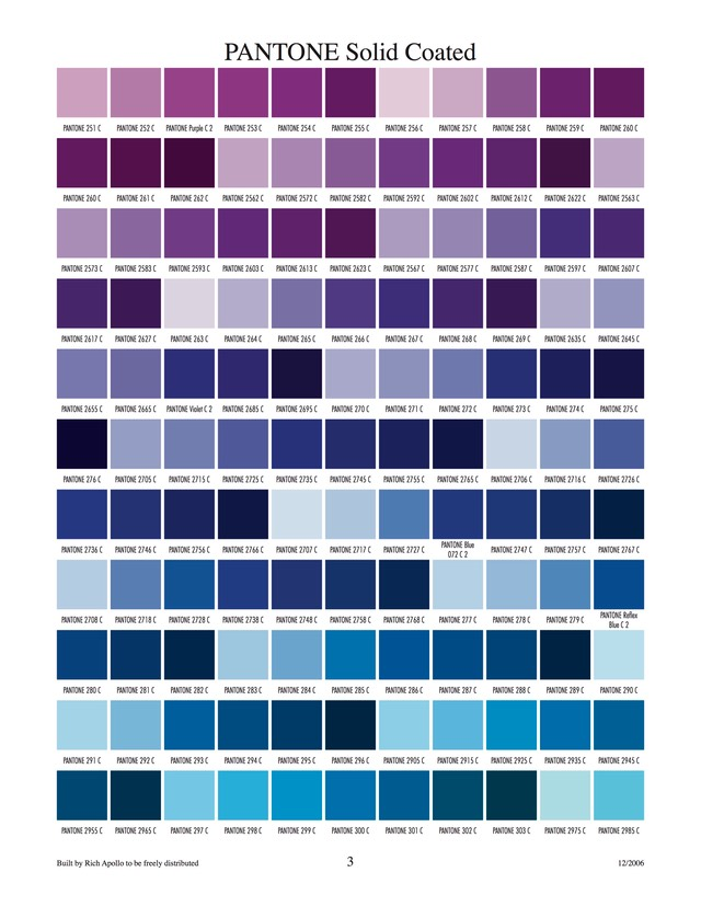 Pantone solid coated 3