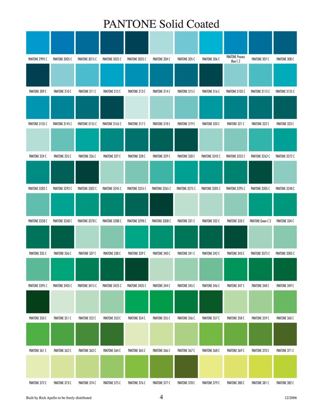 Pantone solid coated 4