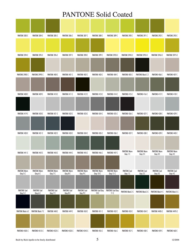 Pantone solid coated 5