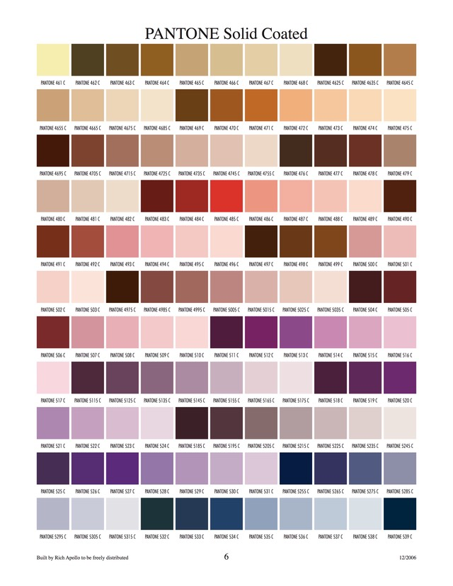 Pantone solid coated 6