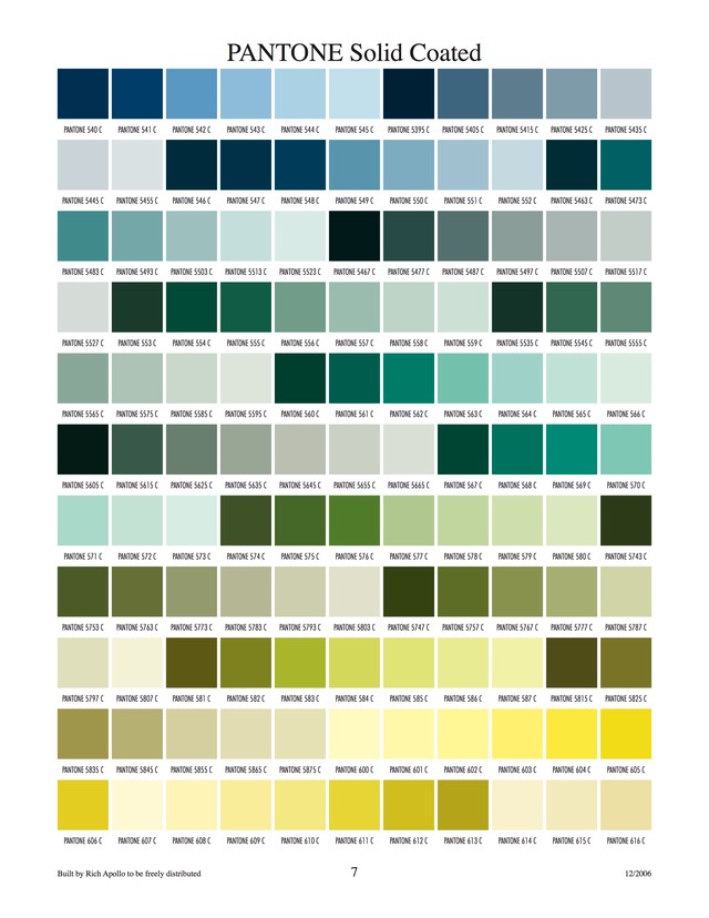 Pantone solid coated 7
