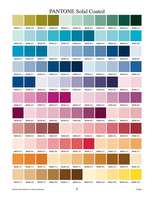 Pantone solid coated 8